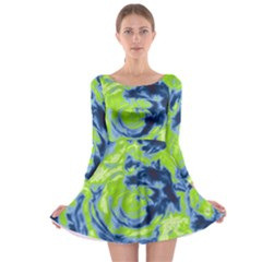 Abstract art Long Sleeve Skater Dress