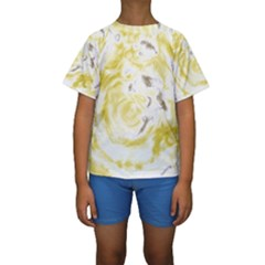 Abstract art Kids  Short Sleeve Swimwear