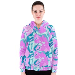 Abstract art Women s Zipper Hoodie