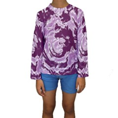 Abstract art Kids  Long Sleeve Swimwear