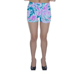 Abstract art Skinny Shorts