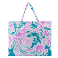 Abstract art Zipper Large Tote Bag