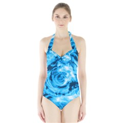 Abstract art Halter Swimsuit