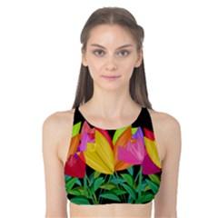 Tulips Tank Bikini Top