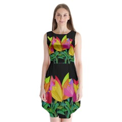 Tulips Sleeveless Chiffon Dress
