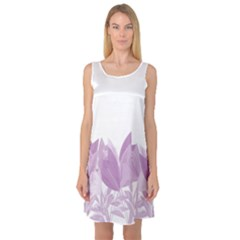 Tulips Sleeveless Satin Nightdress
