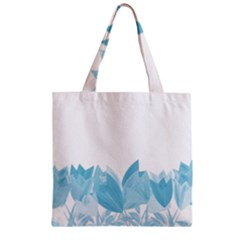 Tulips Zipper Grocery Tote Bag