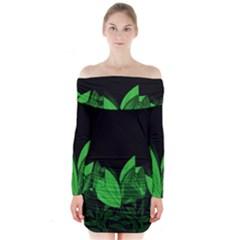 Tulips Long Sleeve Off Shoulder Dress