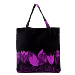 Tulips Grocery Tote Bag