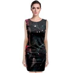 Abstract design Classic Sleeveless Midi Dress