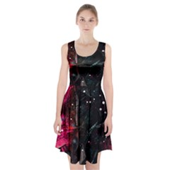 Abstract design Racerback Midi Dress