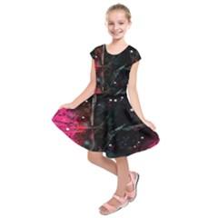 Abstract design Kids  Short Sleeve Dress