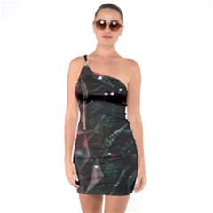 Abstract Design One Soulder Bodycon Dress