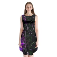 Abstract design Sleeveless Chiffon Dress