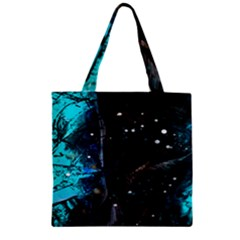 Abstract design Zipper Grocery Tote Bag