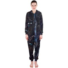 Abstract design Hooded Jumpsuit (Ladies)
