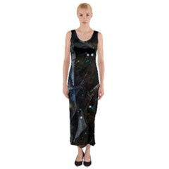 Abstract design Fitted Maxi Dress