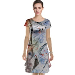 Abstract design Cap Sleeve Nightdress
