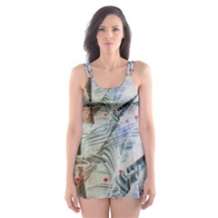 Abstract design Skater Dress Swimsuit