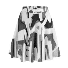 Abstract art High Waist Skirt