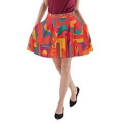 Abstract art A-Line Pocket Skirt