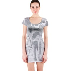Abstract art Short Sleeve Bodycon Dress