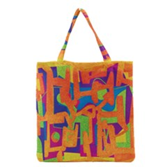 Abstract art Grocery Tote Bag