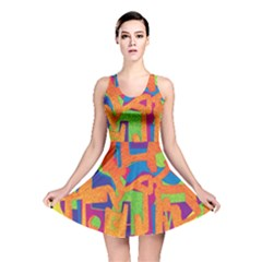 Abstract art Reversible Skater Dress