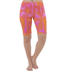 Abstract art Cropped Leggings