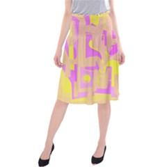 Abstract art Midi Beach Skirt