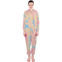 Abstract art Hooded Jumpsuit (Ladies)
