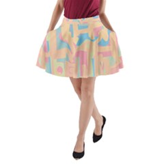 Abstract art A-Line Pocket Skirt