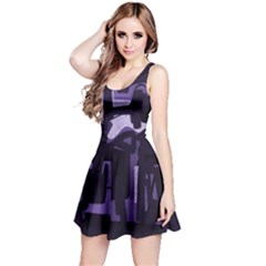 Abstract art Reversible Sleeveless Dress