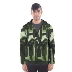 Abstract Art Hooded Wind Breaker (men)
