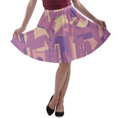 Abstract art A-line Skater Skirt