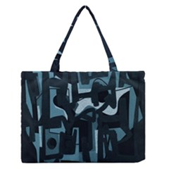 Abstract art Medium Zipper Tote Bag