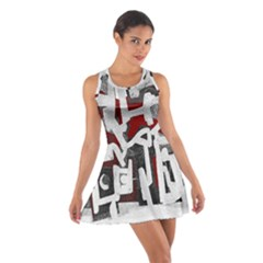Abstract art Cotton Racerback Dress