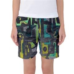 Abstract art Women s Basketball Shorts