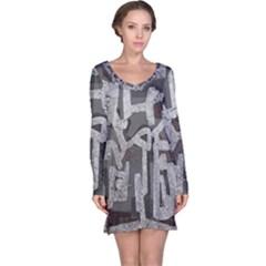 Abstract art Long Sleeve Nightdress