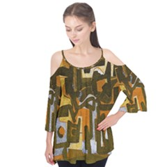 Abstract art Flutter Tees