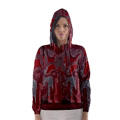 Abstract art Hooded Wind Breaker (Women)