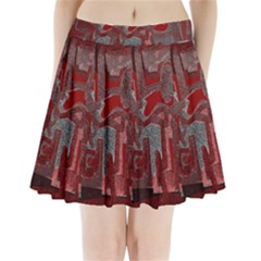 Abstract art Pleated Mini Skirt