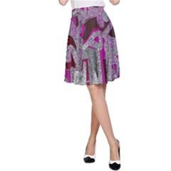 Abstract art A-Line Skirt