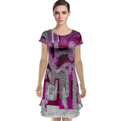 Abstract art Cap Sleeve Nightdress