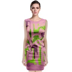 Abstract art Classic Sleeveless Midi Dress