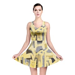 Abstract art Reversible Skater Dress