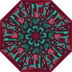 Abstract art Hook Handle Umbrellas (Medium)