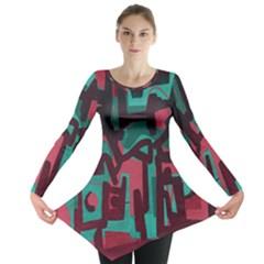 Abstract art Long Sleeve Tunic