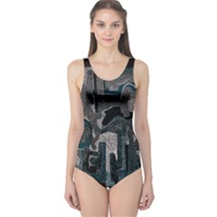 Abstract art One Piece Swimsuit