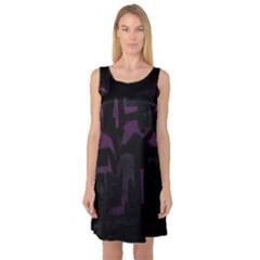 Abstract art Sleeveless Satin Nightdress